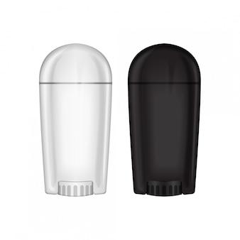 空白の制汗剤ボトルのモックアップ。