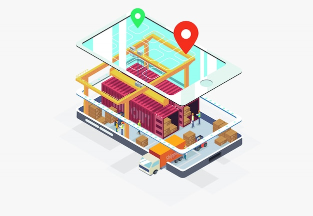 Импорт, экспорт, доставка бизнеса на смартфон