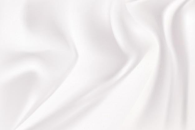 白とグレーの波シルク生地の抽象的な背景。