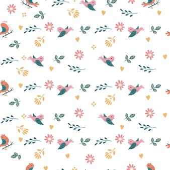鳥のシームレスなパターン