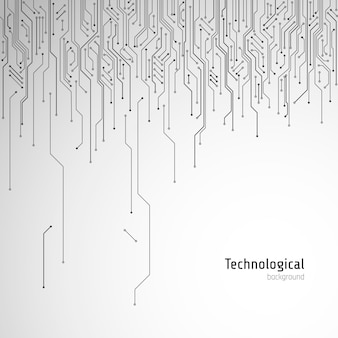 Высокотехнологичная печатная плата. технологический фон вектор