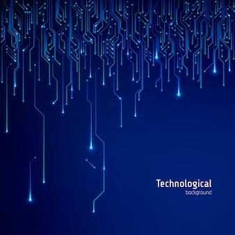 Текстура печатной платы. абстрактный технологический фон вектор