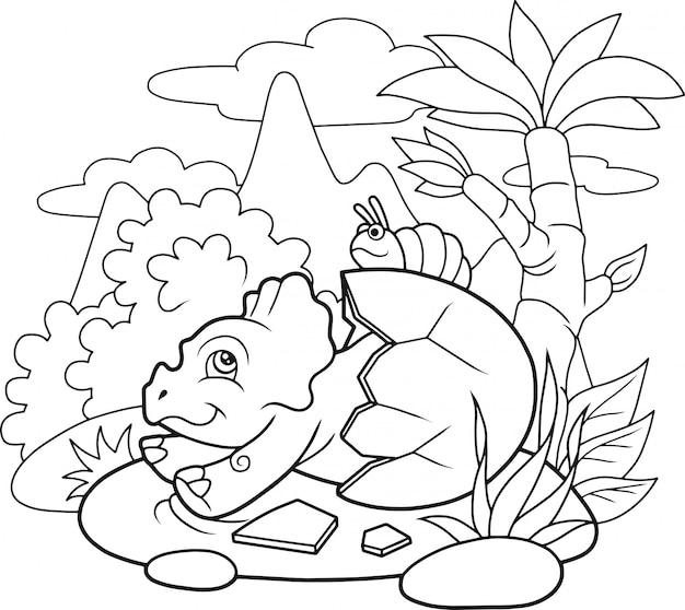 小さなトリケラトプス
