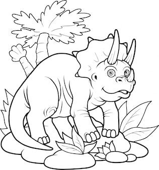 かわいい恐竜トリケラトプス