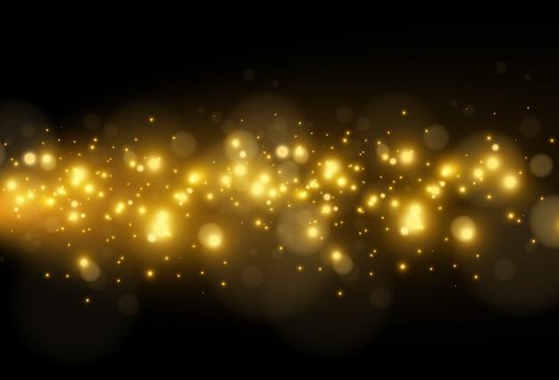 明るく美しい星。透明な背景に光の効果のイラスト。