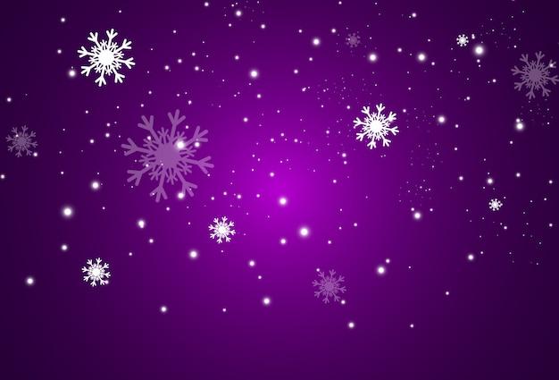 Летящий снег на прозрачном фоне, снегопад или метель.