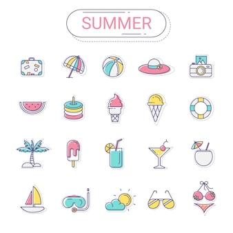 夏のアイコンセット