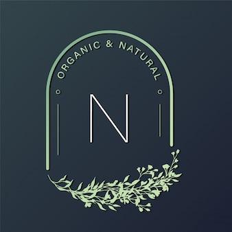 ブランディング、コーポレートアイデンティティの自然なロゴデザインテンプレート。