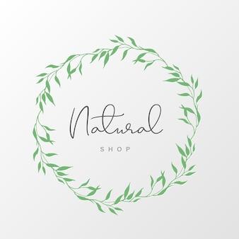 Натуральный логотип дизайн шаблона для брендинга, фирменного стиля, упаковки и визиток.