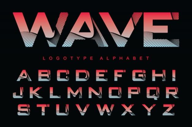 様式化されたカラフルなフォントとロゴデザインのアルファベットのベクトル