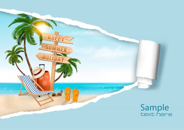 Летние каникулы фон. ,