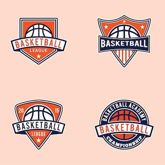 バスケットボールのバッジとロゴ