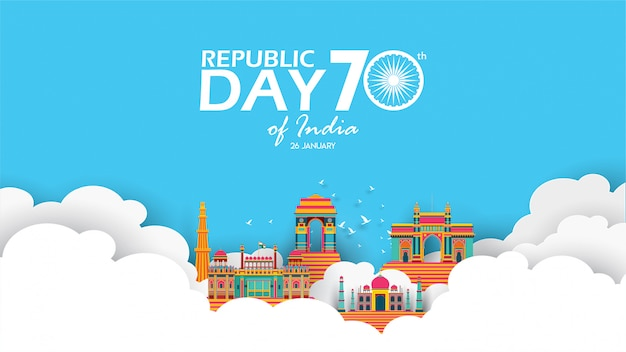 幸せなインド共和国記念日