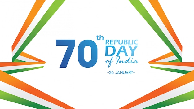 インド共和国記念日のためのチラシ