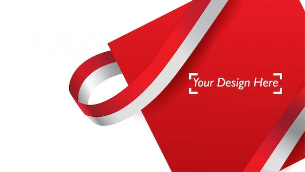 Индонезийский патриотический фон шаблона с пустого пространства для текста, дизайн, праздники, день независимости.