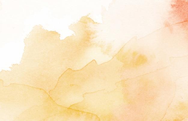 オレンジ色の水彩抽象テクスチャ背景