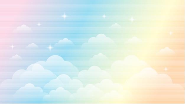 Небо радуга галактика красивый пейзаж фон