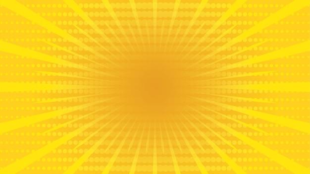 黄色のコミックビンテージ背景