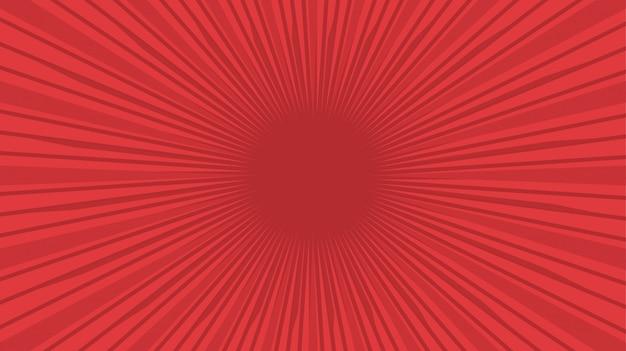 赤いコミックビンテージ背景