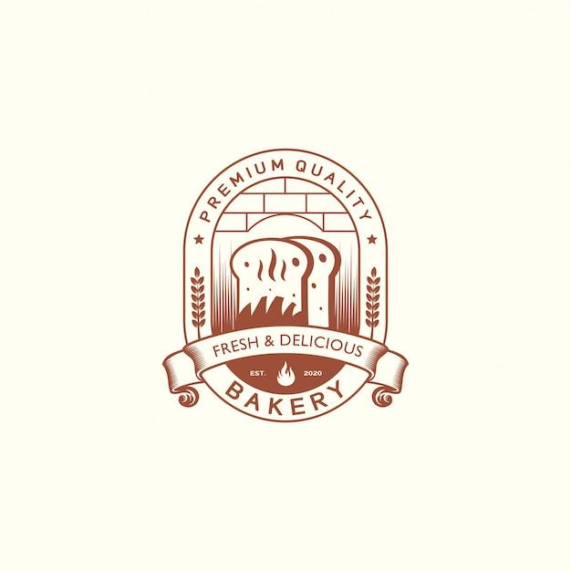 Ретро пекарня логотип