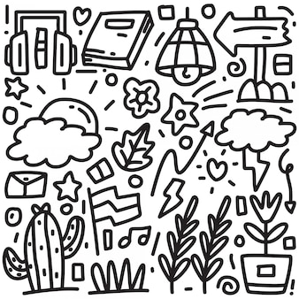 抽象的な手描きの落書き