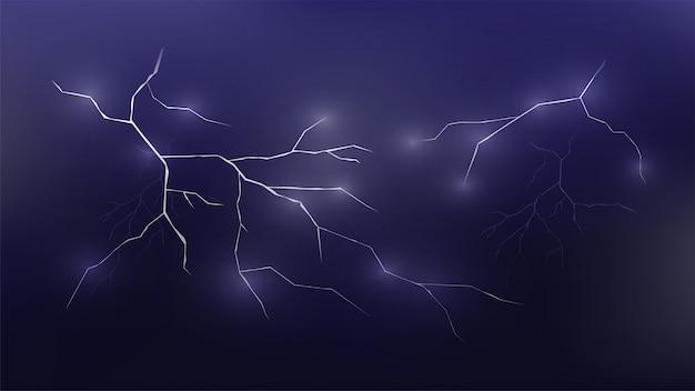 雷の抽象的な背景