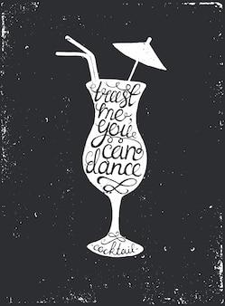 手描きのタイポグラフィポスター。