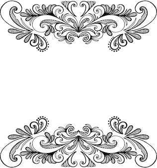 装飾的なフレーム、手描き