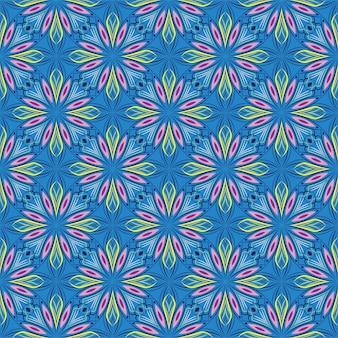 抽象的な背景飾りイラスト。花とのシームレスなパターン