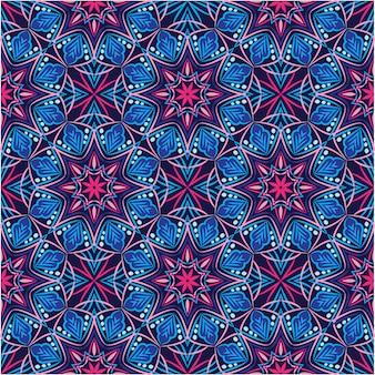 抽象的な背景飾りイラスト、花とのシームレスなパターン