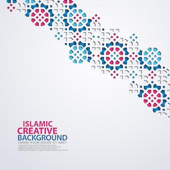 イスラムデザイングリーティングカード背景テンプレート