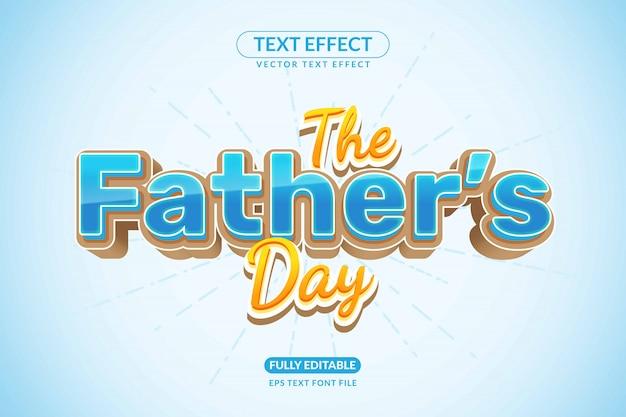 Редактируемый текстовый эффект «дни отца семьи»