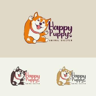 Логотип по уходу за приютом для щенков