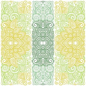 東方カラフルな曼荼羅のイラストのテンプレート