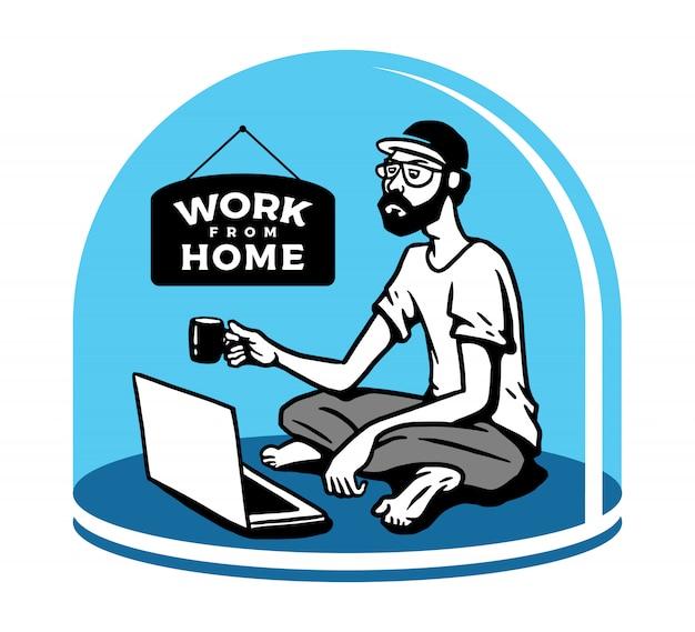 Работа из дома иллюстрация