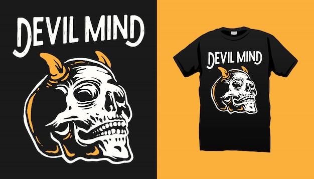 Дьявол череп футболка дизайн