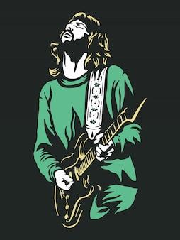 Гитарист иллюстрация