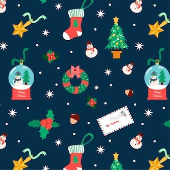 かわいいクリスマスパターンの要素