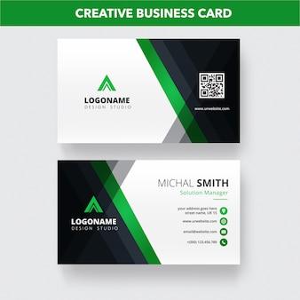 Шаблон креативной визитки