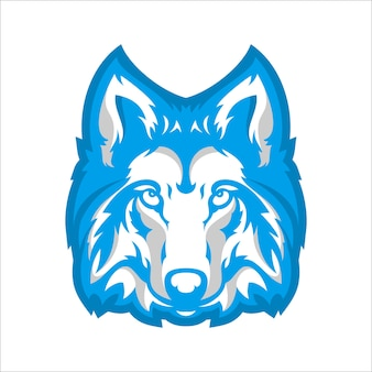エスポートゲームのロゴ用のウルフヘッドキャラクター