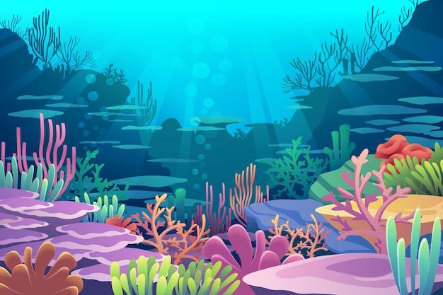 海の景色の下で