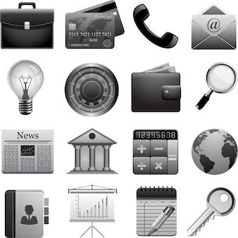 Векторный набор бизнес иконок.