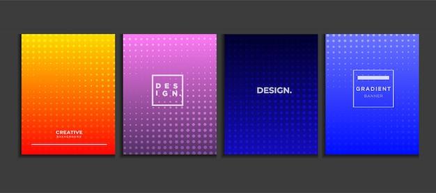 グラデーションポスターの背景は、ハーフトーン、モダンなバナーの概念ベクトルを設定します。