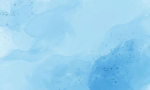 青い水彩背景テンプレート。