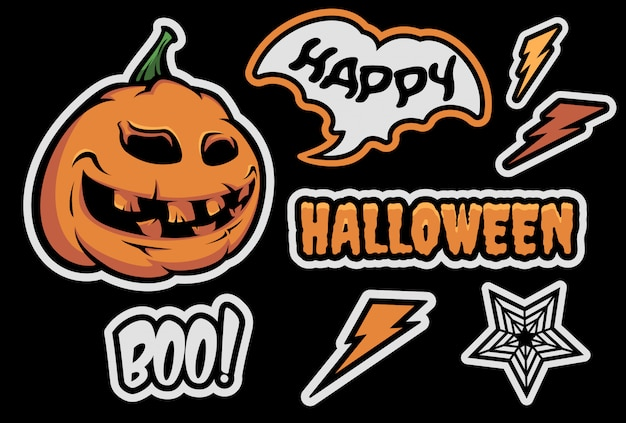 Набор с тыквой на хэллоуин.