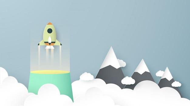 ロケットは未来へ飛んでいます。