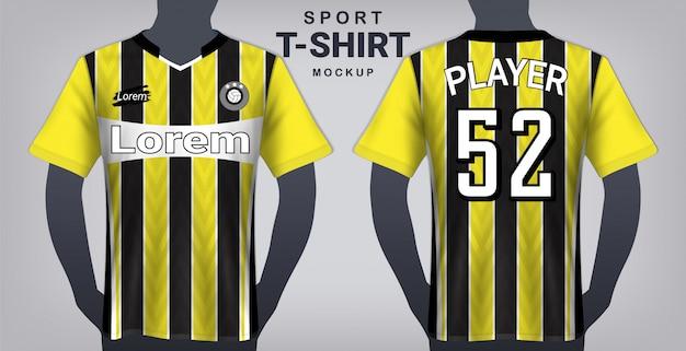 Шаблон макета футболки и спортивной футболки.