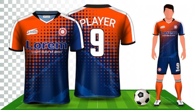 サッカージャージ、スポーツシャツ、フットボールキットのユニフォームプレゼンテーション