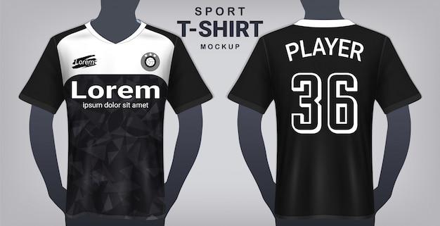 Шаблон спортивной футболки