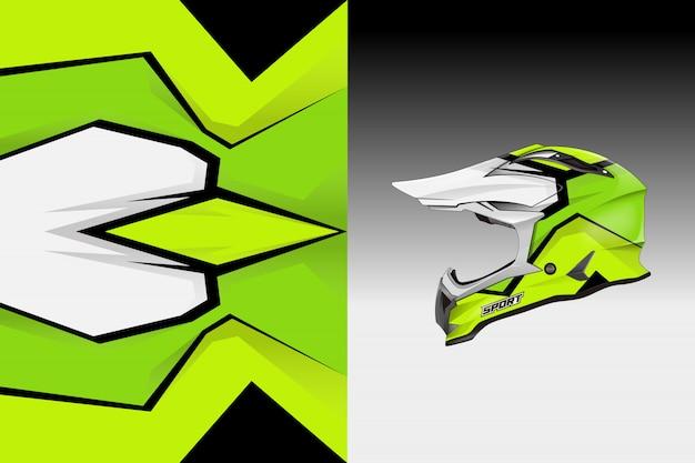 Шлем наклейка с наклейками дизайн вектор ливрея
